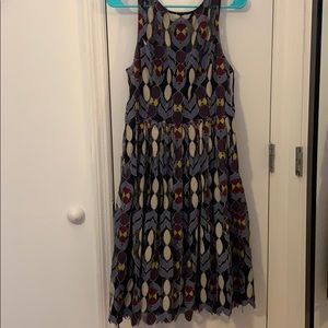 Anthropologie, patterned dress.